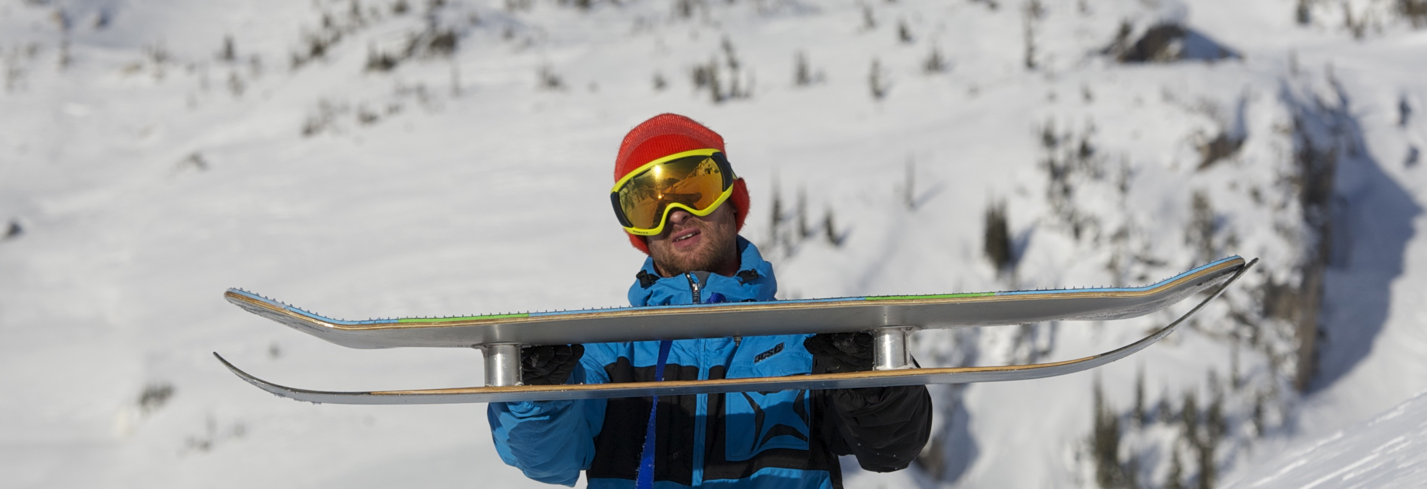 powsurf snowskate wakesurf carbon fibre